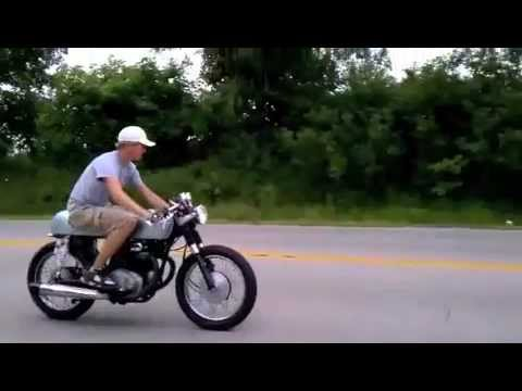 my cb350 cafe racer- painted and rippin asphalt! - youtube