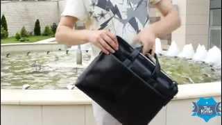 Видео обзор мужского кожаного портфеля ETERNO для ноутбука