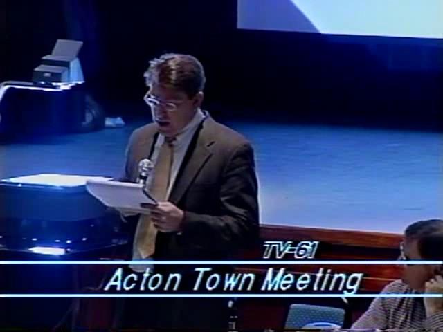 Town Meeting - April 4, 2001
