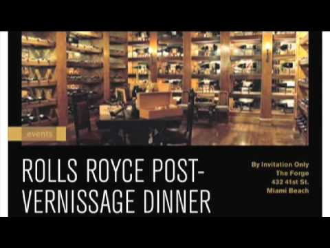 The Rolls Royce Vernissage Dinner At Art Basel