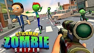 Halloween Sniper : Scary Zombies -  Stickman Game! - Android gameplay