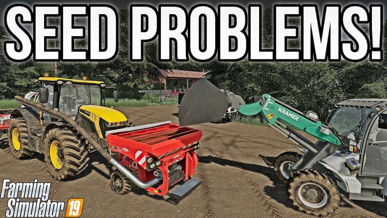 PROBLEMS WITH THE SEEDER! | Farming Simulator 19 - Смотреть видео