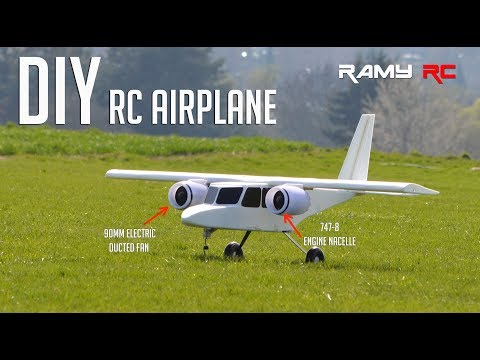 Designing and building new RC airplane from scratch by RAMY RC - YouTube
