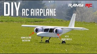 Designing and building new RC airplane from scratch by RAMY RC