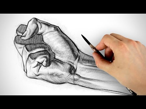 How to Draw a Fist - Hand Drawing Example