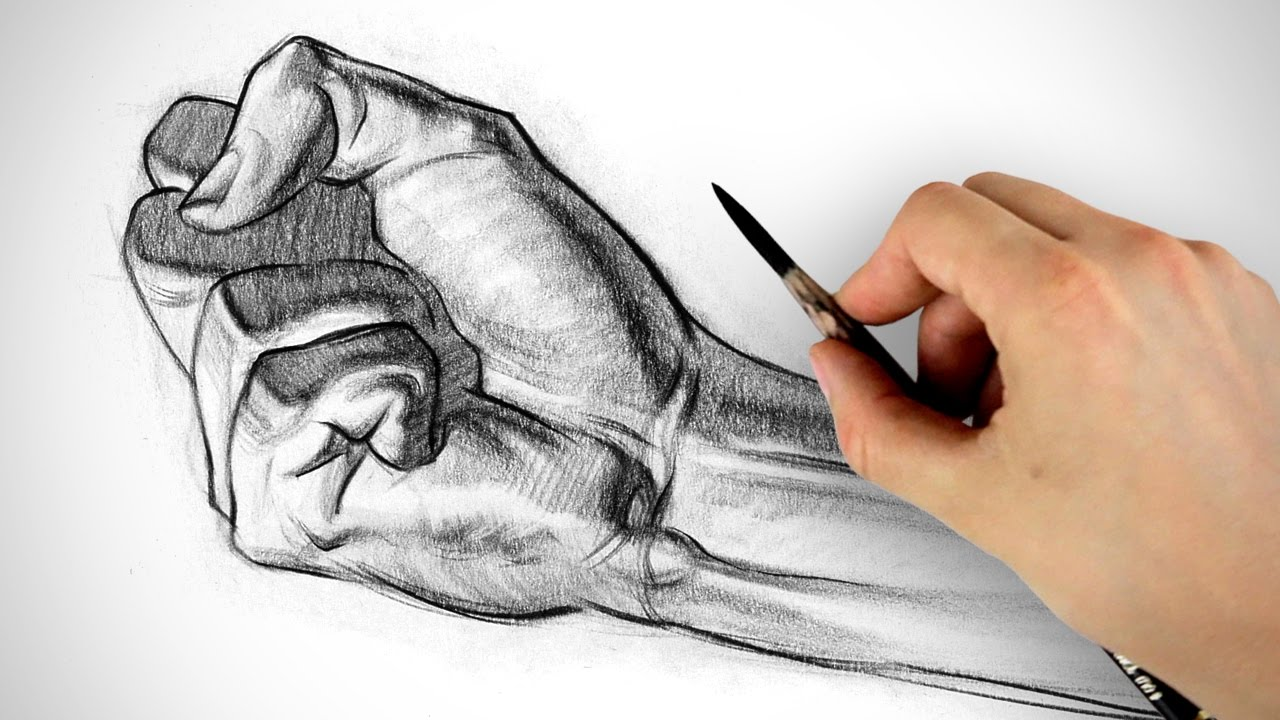 How to Draw a Fist   Hand Drawing Example   YouTube  DrawingHands  FineArt  Illustration