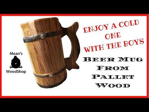 Make A Wood Beer Mug From A Single Pallet Board