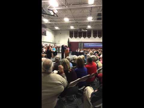 Bernie Sanders at Lebanon NH High School raw footage
