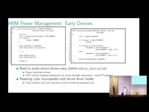 HKG15-404: Standardizing Linux Kernel Power Management on ARM 32/64-bit