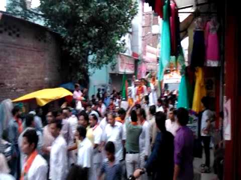 Sh. Ram Bilas Sharma & Sh. Krishan Pal Gurjar at Ballabgarh, Haryana on Vijay Sankalp Yatra Rath
