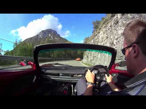 Elises on one of the finest driving roads in Europe