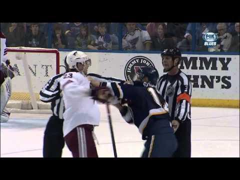 Scrum in 3rd Vladimir Sobotka vs Ekman-Larsson April 18 2013 Phoenix Coyotes s vs St. Louis Blues