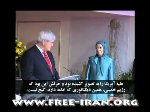 Newt Gingrich meets Maryam Rajavi in Ouver Sur-Oise Paris suburb in France