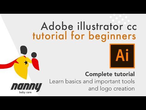Complete Adobe illustrator CC tutorial for Beginners | Basic shapes & tools | Logo design | Part 1 thumbnail