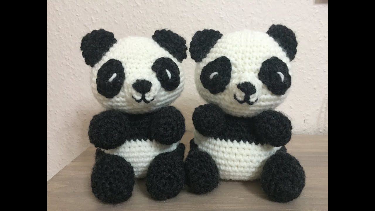 Amigurumi Tuto : Tuto panda au crochet youtube