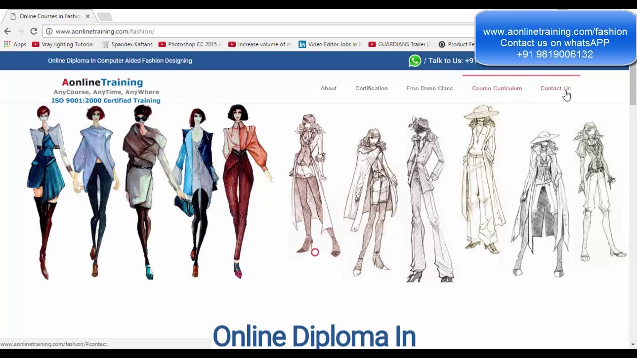 Online fashion designing courses cad free demo class Online clothing design software