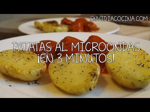 Patatas al Microondas en 3 minutos - Receta Fácil y Rápida