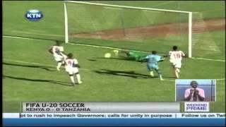 Kenya Under 20 team plays Tanzania to a barren draw at the Machakos stadium