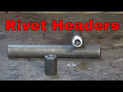 Forging rivet headers - blacksmithing tools
