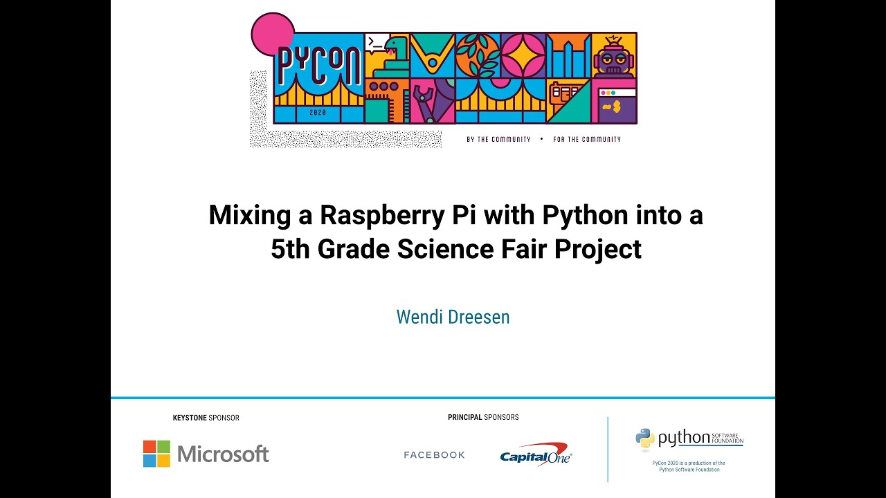 Image from Mixing a Raspberry Pi with Python into a 5th Grade Science Fair Project