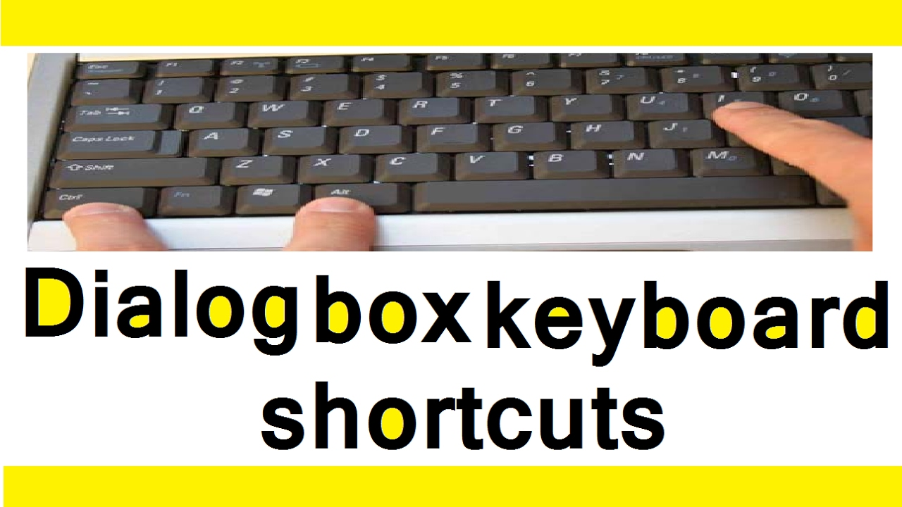 dialog box keyboard shortcut shortcut keys of computer in hindi