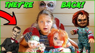 Chucky IS HERE Attack of The Villains EVIL ELF ALIEN MOM SLAPPY DOLL MAKER ARE BACK