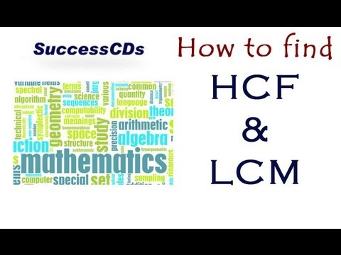 How to find HCF LCM ? Learn Maths - YouTube