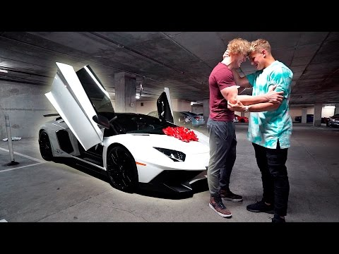 I BOUGHT MY BROTHER HIS DREAM CAR **LAMBORGHINI AVENTADOR**