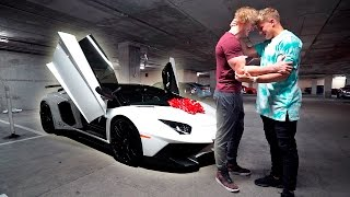I BOUGHT MY BROTHER HIS DREAM CAR **LAMBORGHINI AVENTADOR** (emotional) thumbnail
