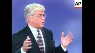 USA: SAN DIEGO: REPUBLICAN CONVENTION: JACK KEMP SPEECH