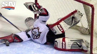 "Take a look back at some of the most memorable saves from Dominik ""The Dominator"" Hasek's career. ---------------------------------------------- Subscribe to Sportsnet ..."