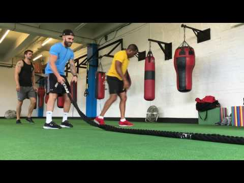 Battle Rope HELL with Andi Peters, Jack Derges and Cameron Goff at Go Fit Go Box