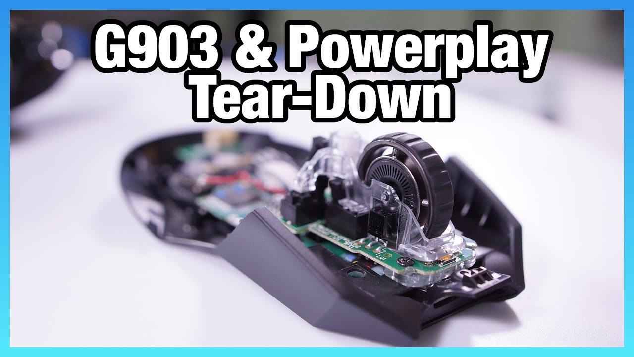 Logitech G903 + Powerplay Wireless Charging Tear-Down - YouTube