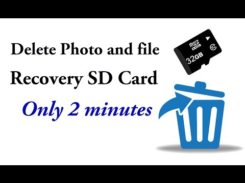 Delete Photo and file Recovery SD Card Only 2 Minutes (bangla)