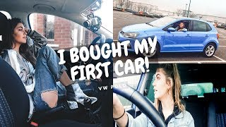 I BOUGHT MY FIRST CAR! VLOG (VW POLO) | Mollerina
