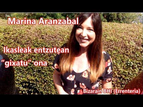 """Marina Aranzabal. Entzuten ausart, hezkuntza-""""gixatu"""" on baterako (Bizarain BHI)"""