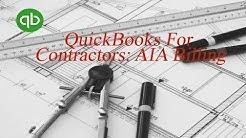 QuickBooks for Contractors: The AIA Billing