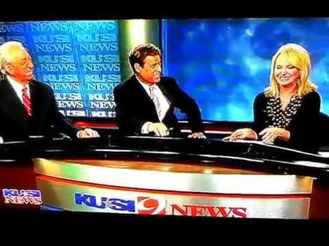 John Coleman KUSI on air flub mass erection blooper