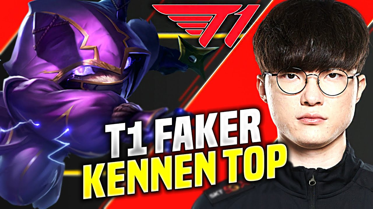 FAKER TRIES SOME KENNEN! - T1 Faker Plays Kennen Top vs Maokai! | KR SoloQ Patch 10.18