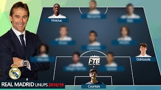 HOW REAL MADRID COULD LINEUPS WITH COURTOIS, VINICIUS, ODRIOZOLA?!