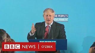 Британия: Борис Жонсоннинг мубоҳасали сайлов кампанияси қандай иш берди? - BBC Uzbek
