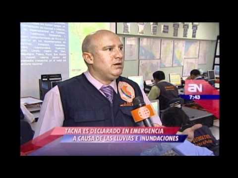 Tacna es declarado en emergencia a causa de las lluvias e inundaciones