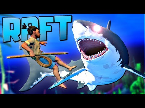Defeating the MASSIVE MEGASHARK and UNDERWATER EXPLORATION - Raft Gameplay