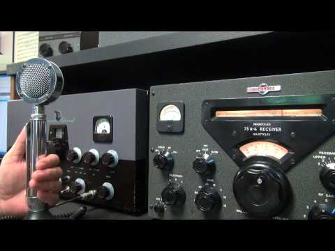 Heathkit DX60 Transmitter Ham Radio AM Net Check-In Vintage Gear on 80 meters