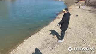 Рыбалка на рогатку на озере часть 2 рыба есть но будет позже