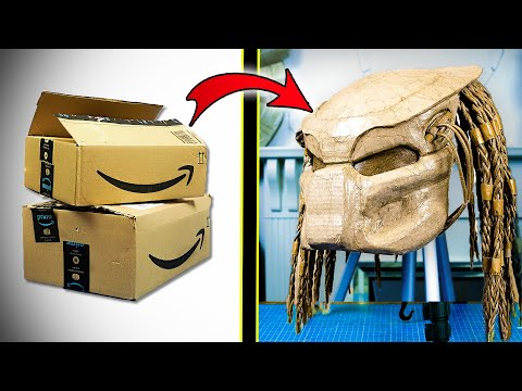 How to make Predator helmet with cardboard