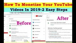 How To Monetize Your  YouTube Videos In 2019-2 Easy Steps