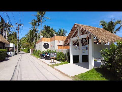 Mimosa beach Koh Samui 4K Walking - Virtual walking tour | Streets of Thailand 2021