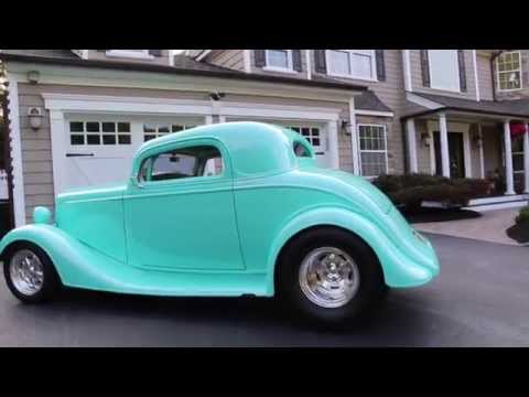 SOLD---1934 Chevy 3 Window Coupe For Sale~355 Bow Tie Small Block w