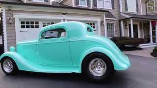 1934 Chevy 3 Window Coupe For Sale~355 Bow Tie Small Block W/ Polished 671 Bds Blowe~turbo 400